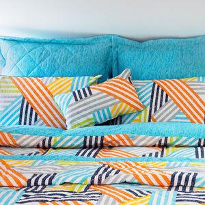 Crosshatch Blue Cushion 30cm x 50cm
