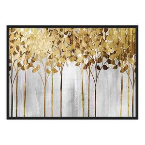 Forest Of Gold Print Framed Gold Foil