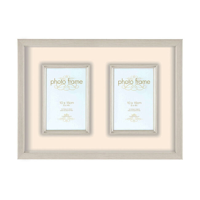 Hereford Silver Photo Frame 2 Windows