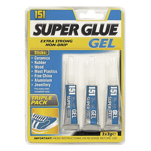 Super Glue Gel 3 Pack
