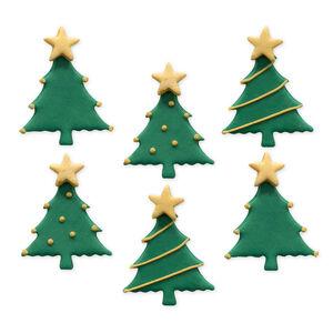 Christmas Tree Handmade Icing Cake Toppers
