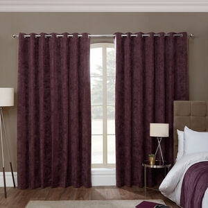 BLACKOUT & THERMAL HERRINGBONE CHENILLE MAUVE 66x5