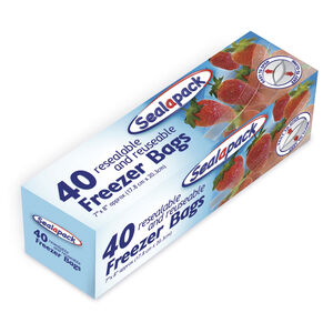 Sealapack 40 Resealable Freezer Bags