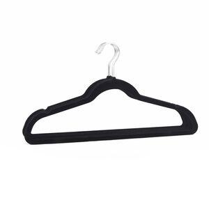 Skinny Velvet Hangers 10 Pack Black
