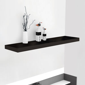 Bergen 80cm Black Effect Floating Shelf