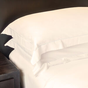 350TC Cotton Oxford Pillowcase Pair - Cream