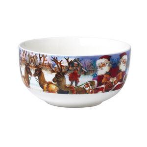 Love Christmas Santa Comes to the Village Bowl