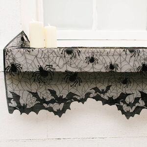 Halloween Lacey Mantle Runner