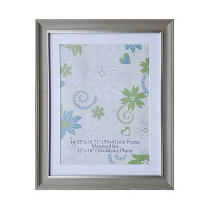 Natural & Silver Photo Frame 12x16""