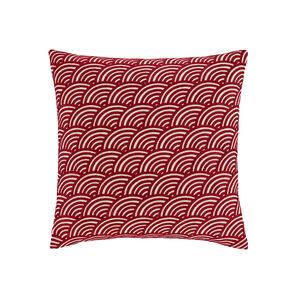 Rainbow Chenille Red Cushion 58cm x 58cm