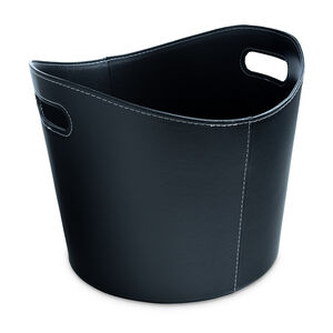 Silverflame Leather Log Bucket 13""