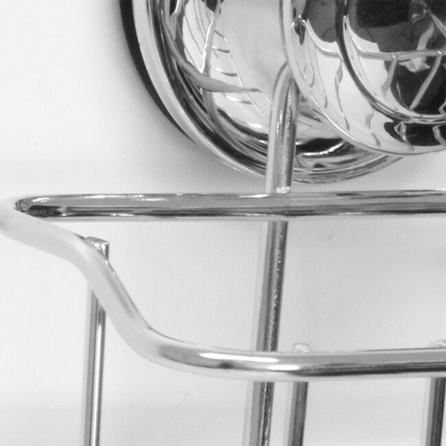 Chrome Bathroom Basket with Suction Fix