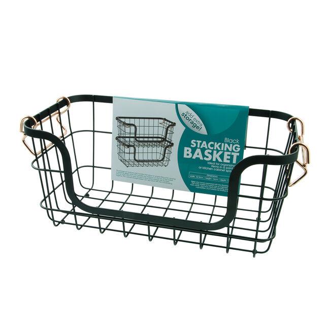 Black Stacking Basket