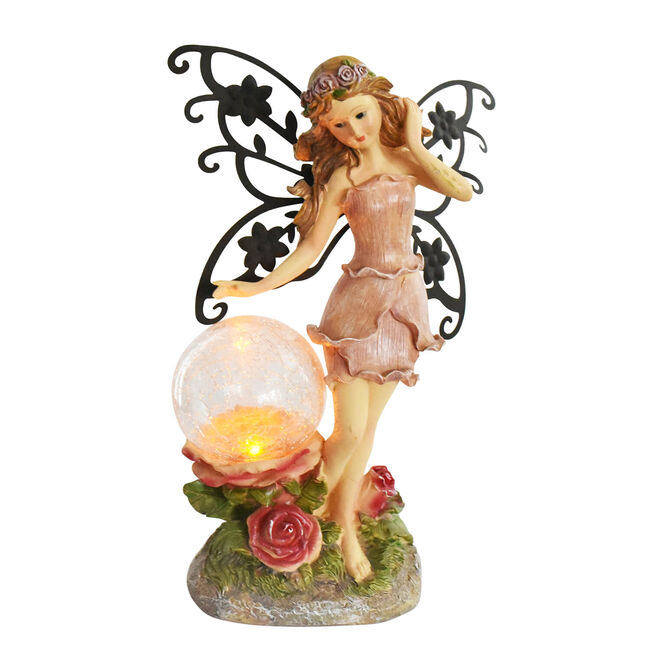 Garden Fairy Crackle Ball Solar Light