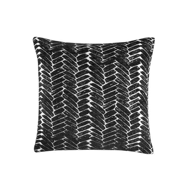 Night Peacock Cushion 45x45cm - Black