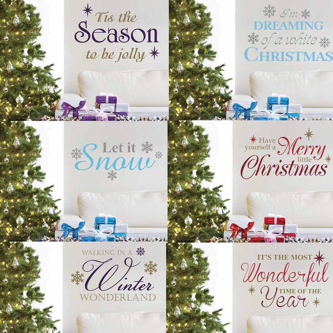Christmas Slogan Wall Stickers