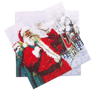 Santa And Sleigh Napkins 20Pk