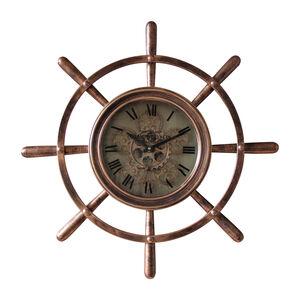 Brass Ship Wheel Clock 67CM