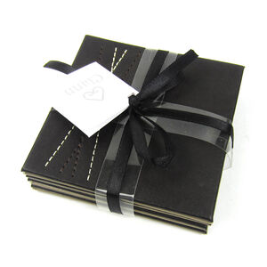 Reversible Brown & Taupe Diamond Coasters 4 Pack