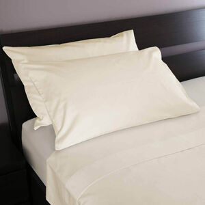 800TC Cotton Housewife Pillowcase Pair - Cream