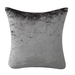 Velvet Crush Cushion Cover 2 Pack 45x45cm - Silver