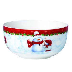 Love Christmas Snowman & Penguin Bowl