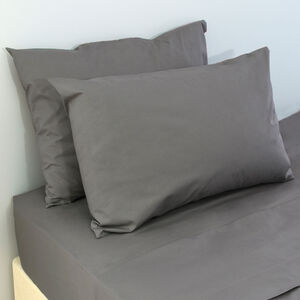 200 Threadcount Grey Housewife Pillowcase Pair