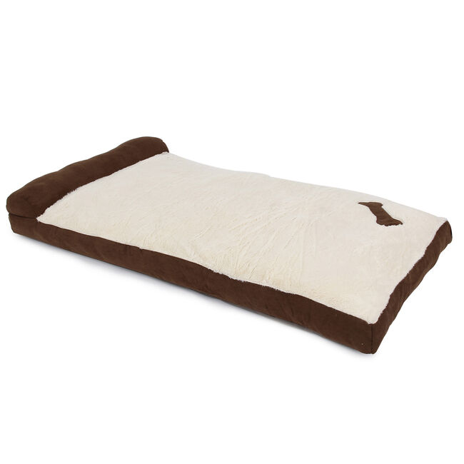 Brown & Beige Chaise-Longue Pet Bed