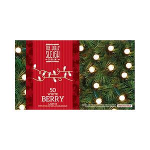 50 White Berry Lights