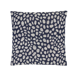 Pebbles Navy Cushion 45cm x 45cm