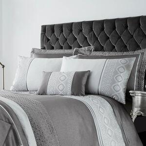 Luxury Geo Silver Pillowshams 50x75cm