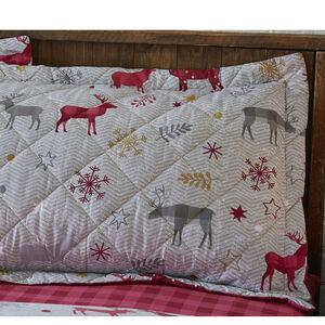 Herringbone Stag Berry Pillowshams