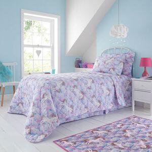 Unicorn Dreams Bedspread 200 x 220cm - Pink