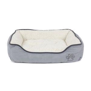 Grey Fleece Large Pet Bed