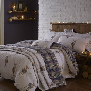 Checkered Stag Duvet Cover