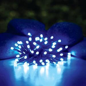 Solar String LED Lights Blue 50 Pack