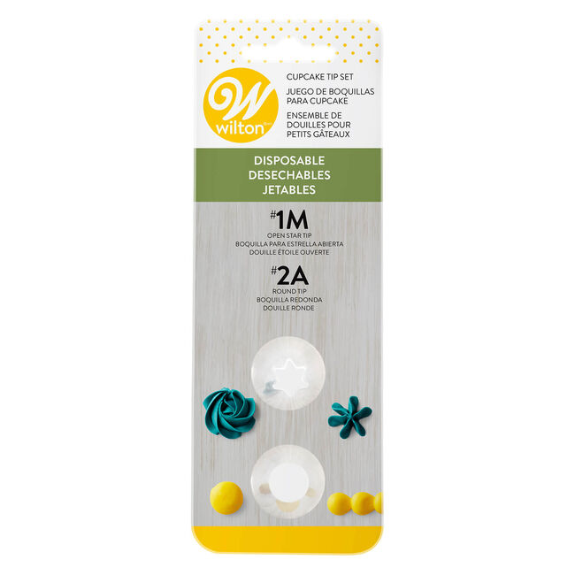 Wilton Disposable Icing Tip Set - 2 Tips