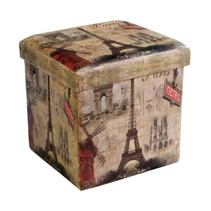 Deluxe Parisian Folding Ottoman