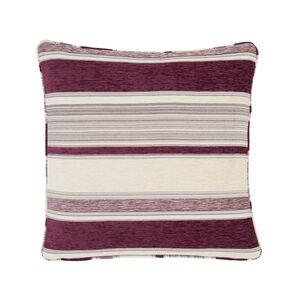 Conor Geo Stripe Purple Cushion 45cm x 45cm