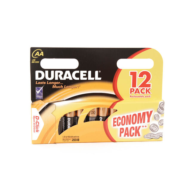 Duracell Basic AA Batteries 12 Pack