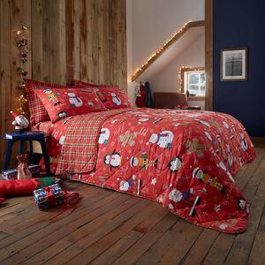 Festive Friends Bedspread 200 x 220cm - Red