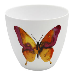 Pink & Yellow Butterfly Votive Holder