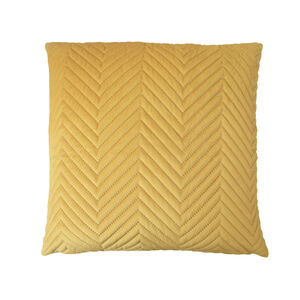 Triangle Stitch Cushion 45x45cm - Tawny Olive