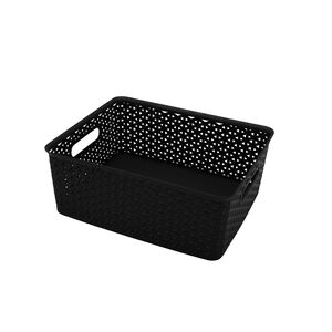 Geometric 14.5L Black Basket