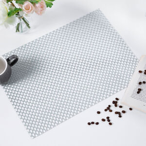 Tabby Weave Placemat - Silver