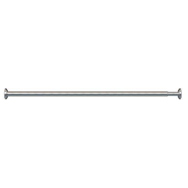 EXTENDABLE TENSION ROD 19mm 45-70cm BR Nickel