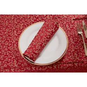 Versailles Placemat 2 Pack - Red/Gold