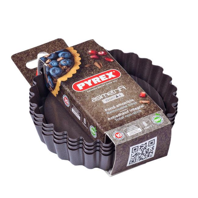 Pyrex Asimetria 4 Mini Tartlets with Loose Bottom