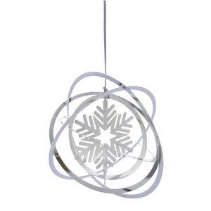 3D Hanging Snowflake Tree Decoration