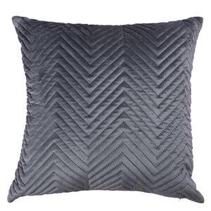 Triangle Stitch Cushion 58x58cm - Grey
